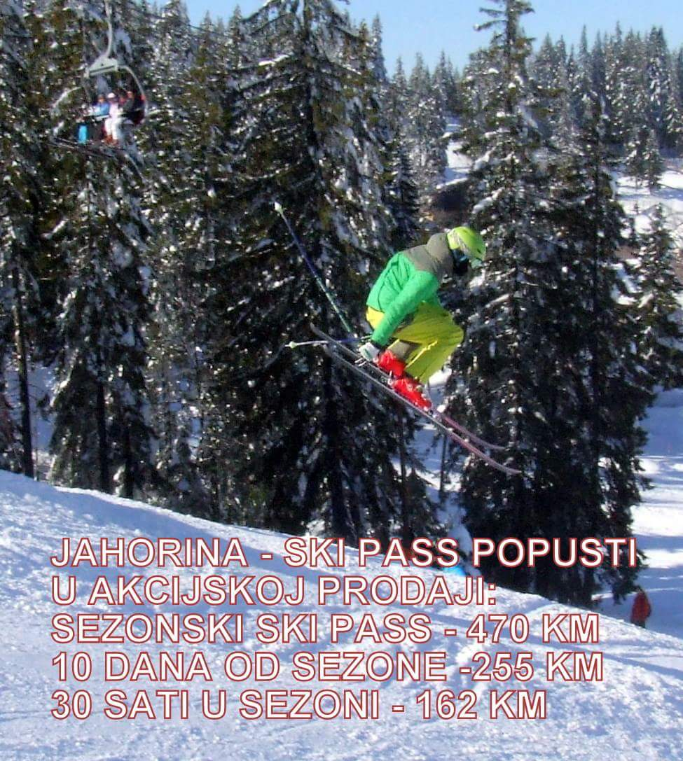 cjenovnik ski pasa na jahorini