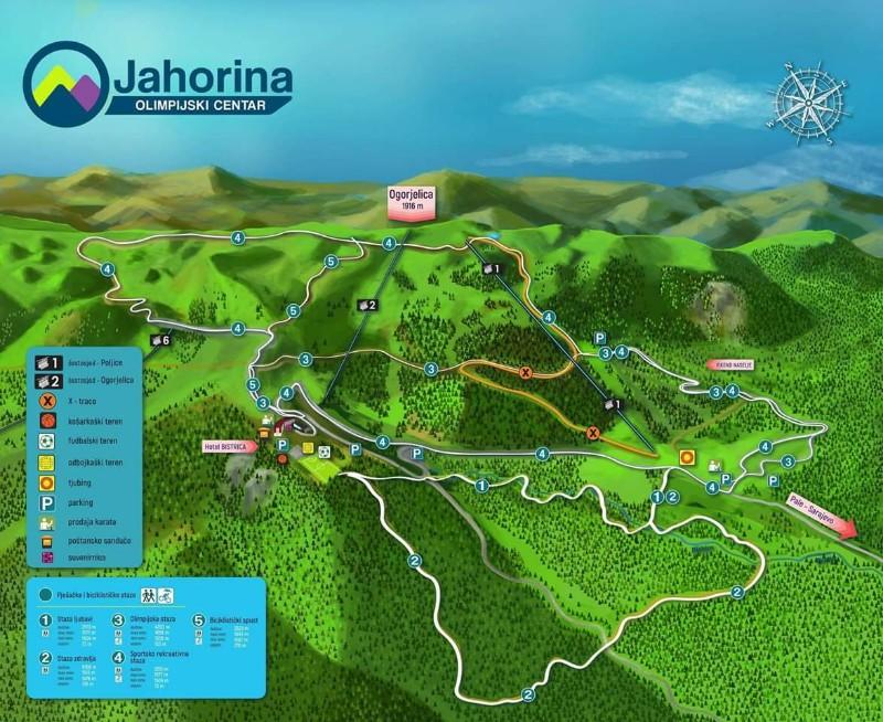 Olimpijski centar Jahorina mapa
