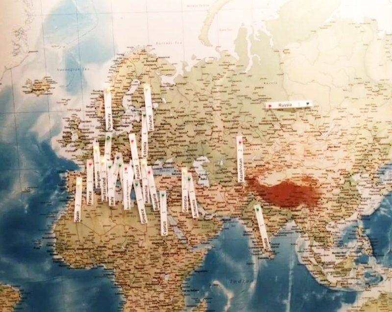 Jahorina na mapi Evropskih skijališta